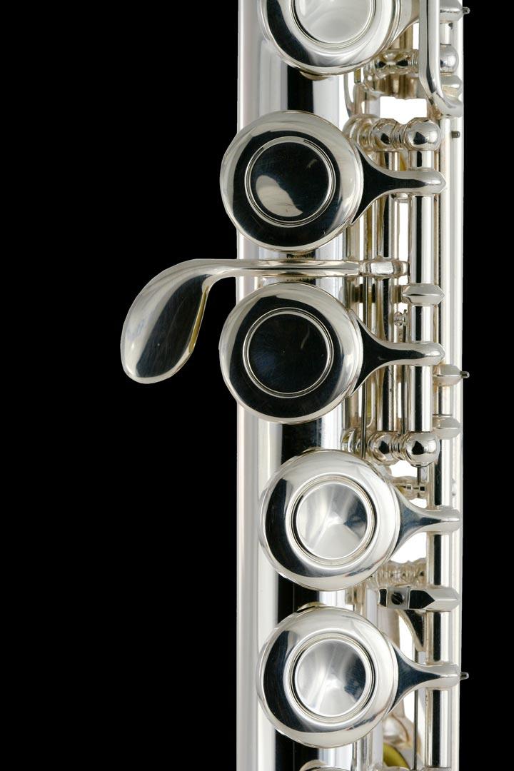 Closeup of flute valves